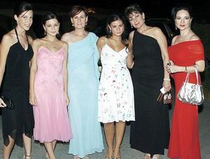 Maruca Papadópulos, Lupita Risk, Christianne Reed, Marisol Papadópulos, Lourdes Sauza e Ingid Reed.