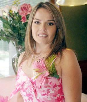 Érika Padilla Velazco en su última despedida de soltera, ya que mañana sábado contraerá matrimonio con Francisco Enrique Esquivel.