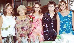 Rosy de Romero, Angelina de Gordillo, Jessica Díaz Fkores Nájera, Patricia de Díaz Flores y Eugenia Gordillo.
