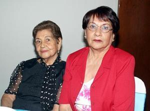 Carmen de Máynez y Cecilia M de Rojas.