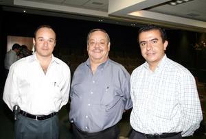 Luis González, Roberto Rodríguez y Ricardo Pérez.