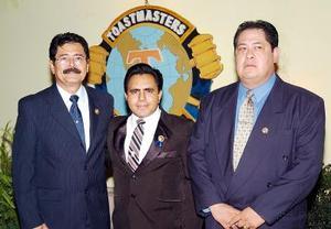 Pedro Cañedo, Santiago Amaya y Gilberto Larios.