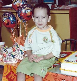 Jesús Antonio Dávila Montoya festejó tres años de vida en días pasados.
