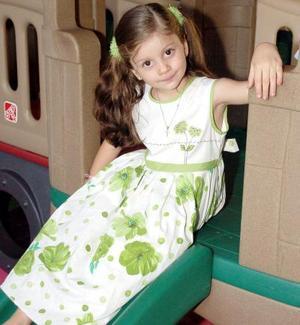 Nayla Camila Casale Frausto, en un convivio infantil.
