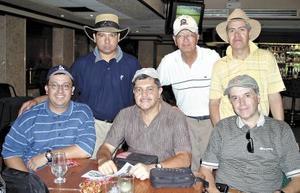 Carlos Campa, Rodolfo Castro, Jorge Landeros. Lusi Carlos Silva, Salvador Kan y Fernando Rentería.