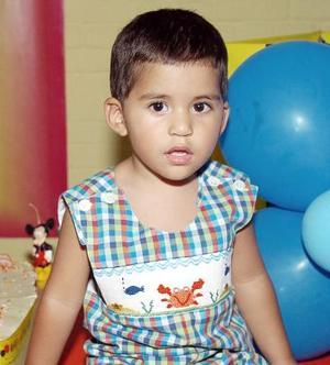Luis Fernando Baeza el día de su piñata.