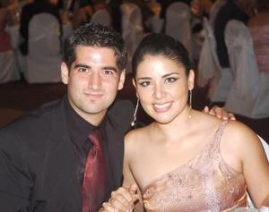 <b>16 de agosto 2005</b><p> Pedro Gutierrez Lugo y Jocelyn Pérez Lee.