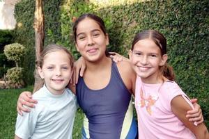 Bárbara Sánchez, Alejandra Pérez y Daniela Murra.