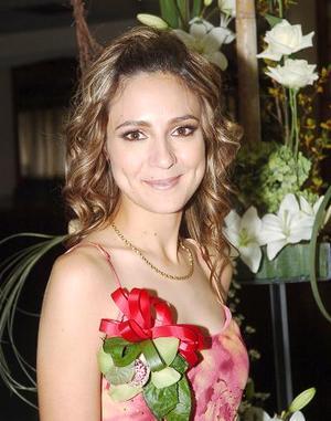Jéssica Díaz Flores en su fiesta de despedida de soltera