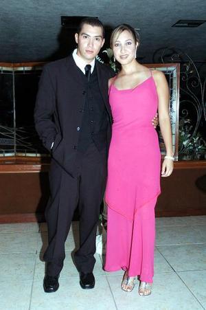 <b>18 de agosto 2005</b><p> Érick Ugartechea y Cony Guzmán.