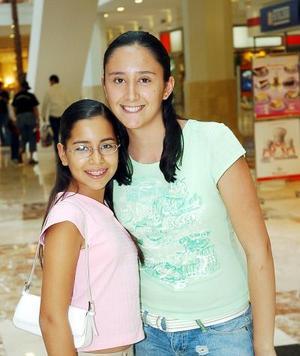 <b>19 de agosto 2005</b><p> Mónika Ayala y Larisa Esquivel