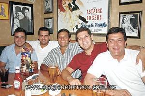 Jesús Bitar, Ricardo Robles, Jorge Aguirre, Ricardo Castro y Omar Aguirre
