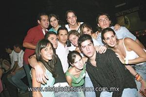 Frank, Karla, Marcela, Beatriz, Jorge, José Antonio, Mario, Cristy, Jorge, Gaby, Luis y Jhoanna