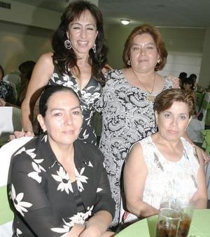 Angélica Cabelaris, Olga Acosta, Magda Rodríguez y Lucy Morán .