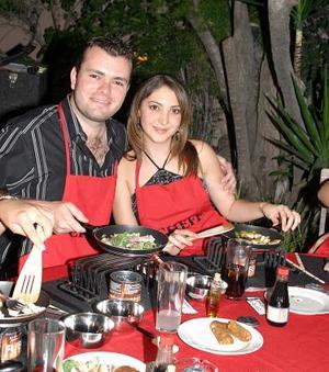 Alex Gidi y Paty Lugo.