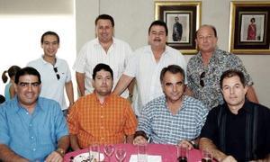 Antonio Anaya, Gilberto Gómez, Eduardo Sesma, Alberto Villarreal, Gonzalo Villarreal, Francisco Hamdan, Eduardo Guadiana y Saúl Rodríguez.