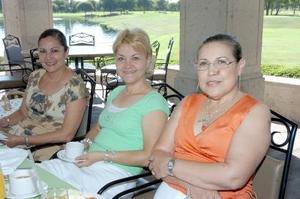Rosy de Armendáriz, Luly de Robles y Margarita de Villarreal.