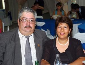 Guillermo Romero y María Elena de Romero.