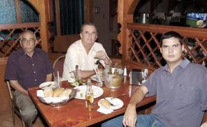 Albino Guerrero, Ricardo Saravia y Antonio Saravia.
