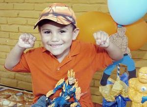 El pequeño Alejandro festejó su cuarto aniversario.