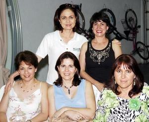 Patricia Llama, Leticia García, Ana Laura Villarreal, Susana Rodríguez y Georgina Salazar.