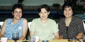 Paty Venegas, Sandra Nájera y Mayté Abraham.