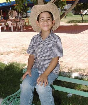 El niño Edgar Zeferino Lugo Ochoa.