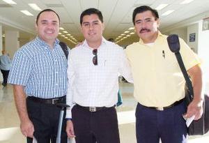 Gerardo Pérez, Marcos Castillo y Ricardo Balcázar viajaron a Mazatlán.