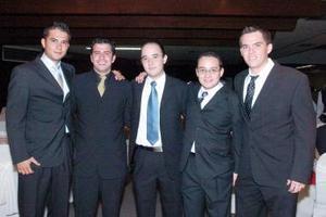 Gustavo Pineda, Juan Manuel Martínez, Ernesto Espinoza, Jazael Hernández y Alejandro Castañeda.