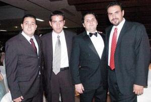 Julio Villalobos, Alejandro Salgado, Arturo Mijares y Mario Villarreal.