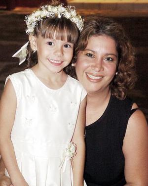Gaby Mendoza con su hija Gaby.