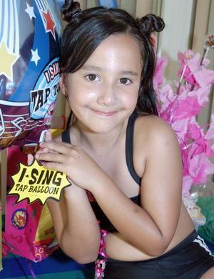 Lizeth Viesca Sánchez, captada en su fiesta.