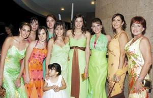 Mariana, Johanna, Anet, Marcela, Tena, Beth, Bárbara, Susy, Susana y María Paola.