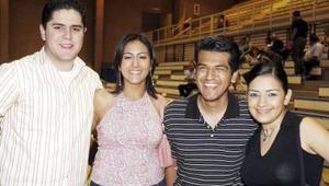 Marco Ibarra, Rosalva Mijares, Roel Méndez y Adriana Zorrila.