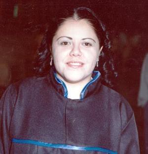 Ruth Lizeth Campeán Corral, el día de su graduación en puericultura.