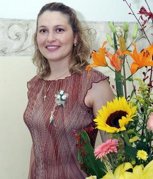 Brenda Antares Vázquez González, captada en la despedida de soltera que le organizaron.