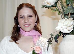 Gabriela Serna, captada en su fiesta de despedida.