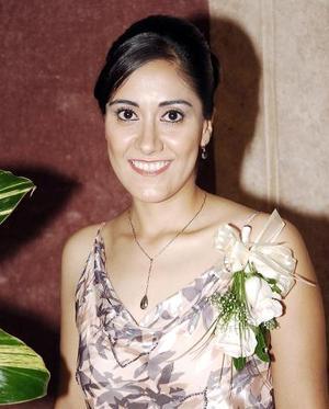 Lucila Navarrete López, el día de su despedida de soltera.