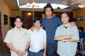 Antonio López, Héctor Guerrero, Braulio Picazo y Manuel Aranda.