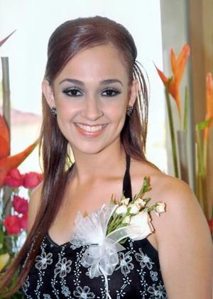 Karla Sofía Gutiérrez Siller, captada en días pasados en su fiesta de despedida.