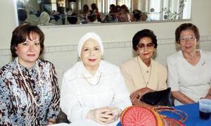 Ana Isabel Saldaña Villarreal, Olivia de Arriaga, Margarita de Saldaña y Josefina de Gamboa.