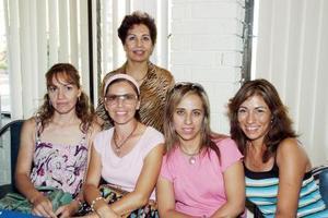 Tensy Garza, Marilú González de Félix, Emma Delgado, Brenda Castellanos y Elba Mena.