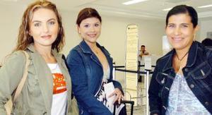 Regresaron de su viaje, Alejandra Tostado, Alejandra Villalpando y Mayela Luna.