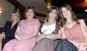 Sonia Zarzar, Nadia de Giacomán, Marivi Murra y Patricia de Murra.