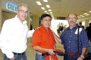 José Antonio Montoya, Francisco Pérez y Mario Palma viajaron a Puebla