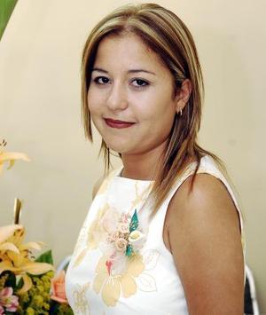 Aidé Magallanes Juárez, captada en la despedida que se le ofreció en días pasados.