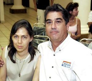 Mayela González y Edilberto Zúñiga.