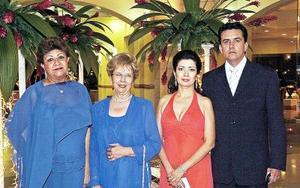 <b>11 de septiembre 2005</b><p> Socorro Máynez Romo, Aurora Máynez, Gerardo Máynez y Paty de Máynez.