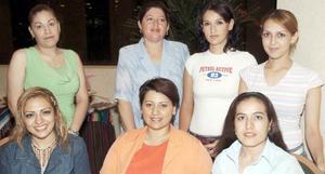 Neima Salazar, Gloria de la Torre, Sandra Ruvalcaba, Mayela Rangel de Alba, Karla Alba, Lily Alba y Brenda Ruiz.