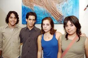 José del Bosque, José Fernández, Valeria Alcántara y Susana Nava